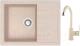Мойка кухонная Berge BR-5850 + смеситель GR-3505 (бежевый/пирит) -