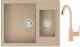 Мойка кухонная Berge BR-6150 + смеситель GR-3505 (песочный/классик) -