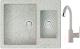 Мойка кухонная Berge BR-6150 + смеситель GR-3505 (серый/базальт) -
