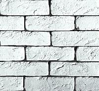 Декоративный камень Polinka Кирпич шамотный белый 0300 (198-205x58-62) -