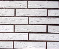 Декоративный камень Polinka Кирпич классический белый 0500 (220x50x6-10) -