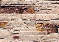 Декоративный камень Polinka Сланец Рифейский бежевый градиент 0202Г (398x94x10-14) -