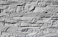 Декоративный камень Polinka Сланец Рифейский серый Люкс 0206Л (398x94x10-14) -