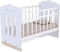 Детская кроватка VDK Bonne колесо-качалка с маятником (белый) -