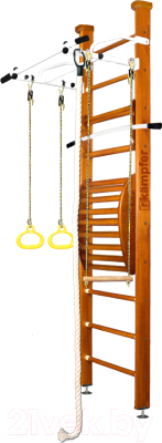 Детский спортивный комплекс Kampfer Helena Maxi Ceiling №3 (классический/белый турник, стандарт)