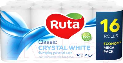 Туалетная бумага Ruta Classic (белая, 16рул)