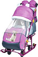 Санки-коляска Ника Детям 7-2 New (щенок, розовый) -