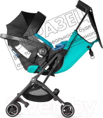 Детская прогулочная коляска GB Pockit+ (Posh Pink) - Пример использования в комплекте с автокреслом (докупается отдельно)