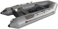 Надувная лодка Vivax Т330 с ковриком-сланью (без киля, серый/черный) -