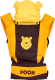 Эрго-рюкзак Polini Kids Disney baby Медвежонок Винни и его друзья с вышивкой (шоколадный) -