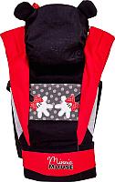 Эрго-рюкзак Polini Kids Disney baby Минни Маус с вышивкой / 0001700-9 (черный) -
