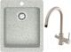 Мойка кухонная Berge BR-4200 + смеситель Spring 3509L (серый/базальт) -