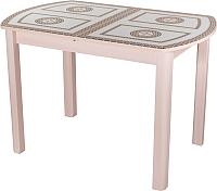 Обеденный стол Домотека Танго ПО 70x110-147 (ст-71/молочный дуб/04) -