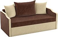 Диван Mebelico Дороти / 59378 (микровельвет, коричневый/бежевый) -