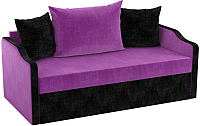 Диван Mebelico Дороти / 59380 (микровельвет, фиолетовый/черный) -
