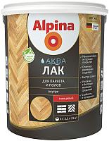 Лак Alpina Аква для паркета и полов (10л, шелковисто-матовый) -