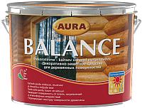 Защитно-декоративный состав Aura Wood Balance (9л, орех) -