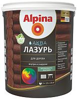 Лазурь для древесины Alpina Аква (900мл, черный) -