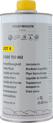 Тормозная жидкость VAG Brake Fluid Dot 4 / B000750M3 тормозная жидкость bosch dot 4 brake fluid 1 л