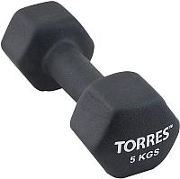 Гантель Torres PL55015 (5кг, черный) -