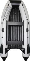 Надувная лодка Vivax Т360Р с жестким полом (с килем, серый/черный) -