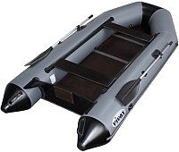 Надувная лодка Vivax Т330 с полом-книгой (с килем, серый/черный) -