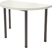 Обеденный стол Millwood Далис 2 (дуб белый Craft/металл черный) -