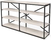 Стеллаж Millwood Neo Loft OR-1 Л (дуб белый Craft/металл черный) -