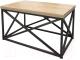 Журнальный столик Millwood Neo Loft CT-1 Л (дуб золотой Craft/металл черный) -