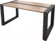 Журнальный столик Millwood Neo Loft CT-2/L (дуб табачный Craft/металл черный) -