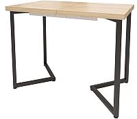 Обеденный стол Millwood Loft London Л 140x60 (дуб золотой Craft/металл черный) -