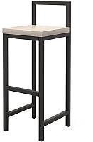 Стул барный Millwood СДН-6 Крам (дуб беленый/металл черный) -