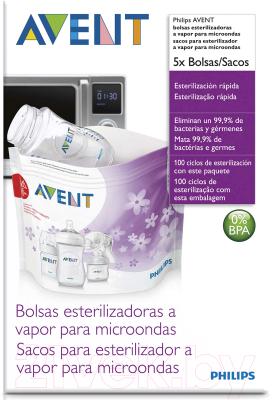 Пакет для стерилизации в СВЧ-печи Philips AVENT SCF297/05 подогреватели и стерилизаторы philips avent стерилизатор для свч scf 281 02