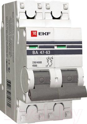 Выключатель автоматический EKF ВА 47-63 2Р 3А (C) PROxima