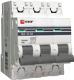 Выключатель автоматический EKF ВА 47-63 3Р 4А (C) PROxima / mcb4763-3-04C-pro -