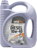 Моторное масло Onzoil SAE 10W40 Turbo Diesel Lux CF-4 (4.5л) -