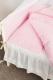 Комплект постельный в кроватку Martoo Comfy 6 / CM-6-PN (розовый/бежевый) -