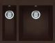 Мойка кухонная Elleci Quadra 150 Espresso M78 / LMQ15078 -
