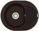 Мойка кухонная Elleci Easy Round 600 Espresso M78 / LMYR6078 -
