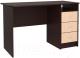Письменный стол Интерлиния СК-001 (дуб венге/дуб молочный) -