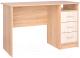 Письменный стол Интерлиния СК-001 (дуб сонома/дуб белый) -