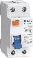 Устройство защитного отключения Chint NL1-63 6kA 2P 25A 30мА AC (DB) -