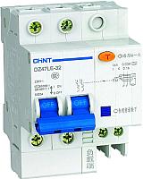 Дифференциальный автомат Chint DZ47LE-32 2P 32A 30mA AC С 6kA -