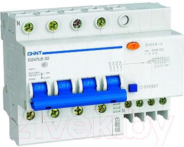 Дифференциальный автомат Chint DZ47LE-32 4P 25A 30mA AC С 6kA