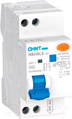 Дифференциальный автомат Chint NBH8LE-40 1P+N 16A 30mA С 4.5kA (R)