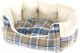 Лежанка для животных Ferplast Etoile 4 / 83505025 (с мехом, синий) -