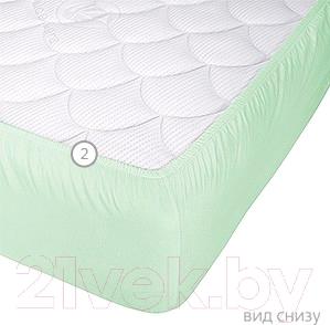 Наматрасник защитный Vegas Protect Cotton S1 180x200 (фисташковый) - вид снизу