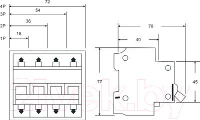 Выключатель автоматический КС ВА 47-39 1Р 6А D