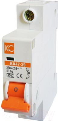 Выключатель автоматический КС ВА 47-39 1Р 10А D / 80308