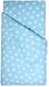 Комплект постельный в кроватку Martoo Comfy B / CMB-B-3-BSTRBL (бязь, крупные звезды на синем) -
